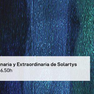 Asamblea General Ordinaria y Extraordinaria de Solartys 2021